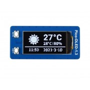 1.3 Inch OLED Display Module for Raspberry Pi Pico - 64×128 - SPI/I2C