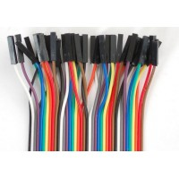 "40-Pack Premium Female/Female Jumper Wires - 8.4"" (215mm)"