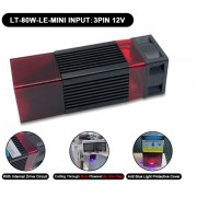 Laser Module - 80W - 450Nm + Adapter + Goggles