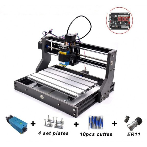 CNC Router Milling Engraver Machine DIY 3018 PRO + Laser Module 2500MW / 5500MW / 15W with ER11