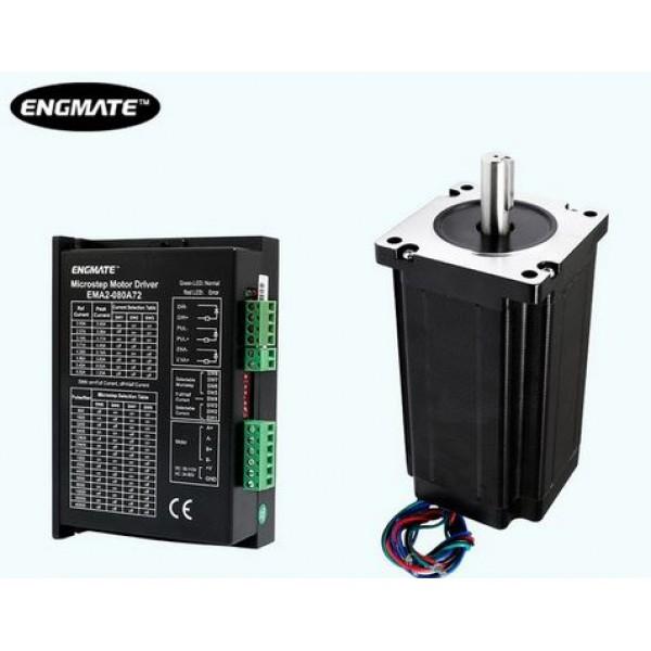 ENGMATE Stepper Motor NEMA 34 + Driver 2/4 Phase
