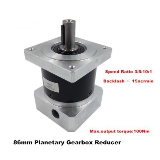 Planetary Gearbox Reducer IP65 - 3/5/10:1 High Precision - NEMA 34 Motor / Servos