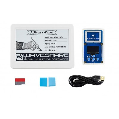 7.5inch NFC-Powered e-Paper Evaluation Kit, Wireless Powering & Data Transfer