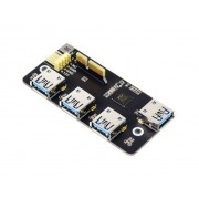 PCIe TO USB 3.2 Gen1 Adapter - For Raspberry Pi Compute Module 4 IO Board-4x HS USB