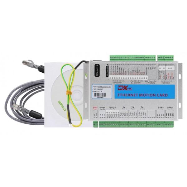 4 Axis XHC Ethernet MACH3 CNC Motion Control Card - 2000KHZ Controller Breakout Board