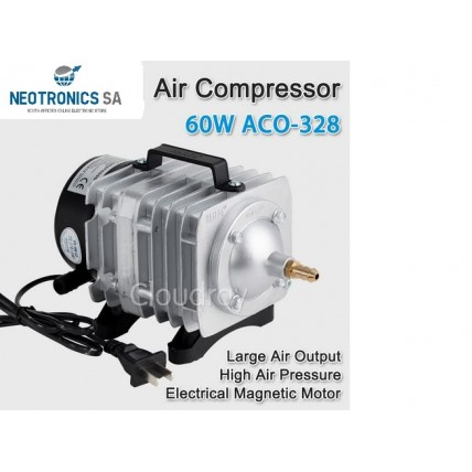 Air Compressor Electrical Magnetic Air Pump for CO2 Laser - 60W