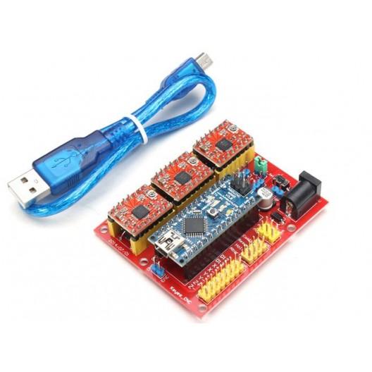 Arduino CNC Shield V4 + Arduino Nano + Stepper Motor Drivers