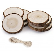 CNC Material Natural Wood Slices for CNC Laser Carving + Wood Burning - 8 Piece Pack