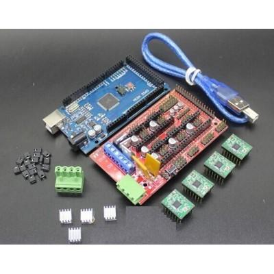 Stepper Driver Kit Mega 2560 R3 + RAMPS 1.4 + 5 A4988 Stepper Driver Modules