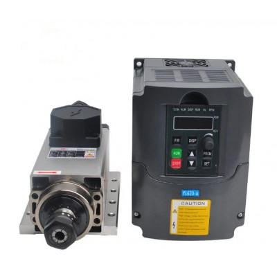 CNC Spindle Motor Air Cooled 2.2KW Kit - Square